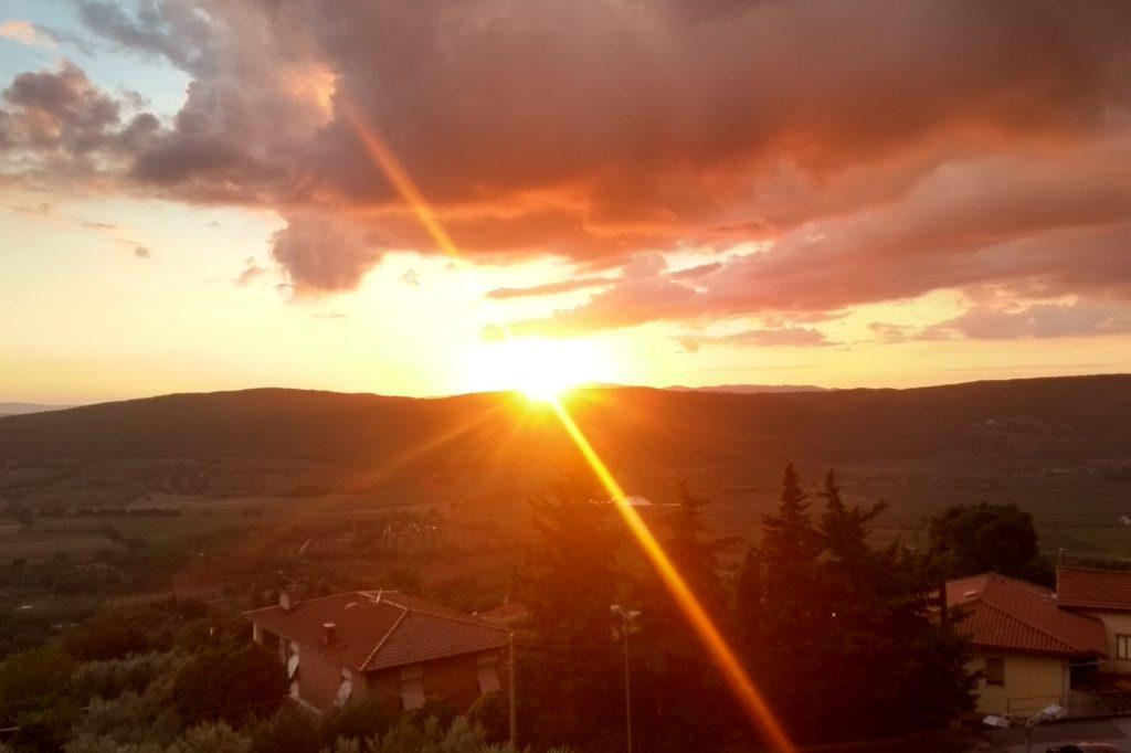 Sonnenuntergang in Massa.